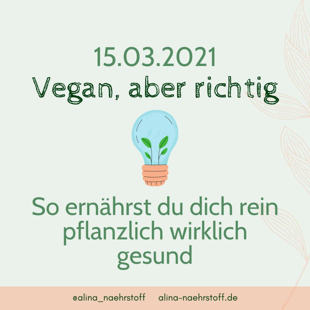 Vegan, aver richtig - So ernährst du dich rein pflanzlich wirklich gesund
